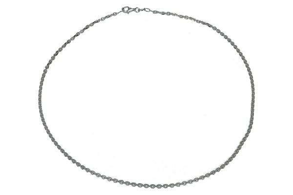 Ankerkette 8-seitig diamantiert 2,4mm/45cm, Silber 925