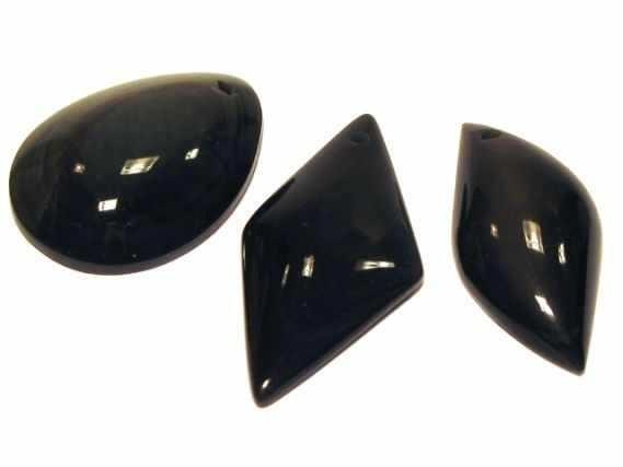 Monatsstein Freeform mit Bohrung, Regenbogen-Obsidian