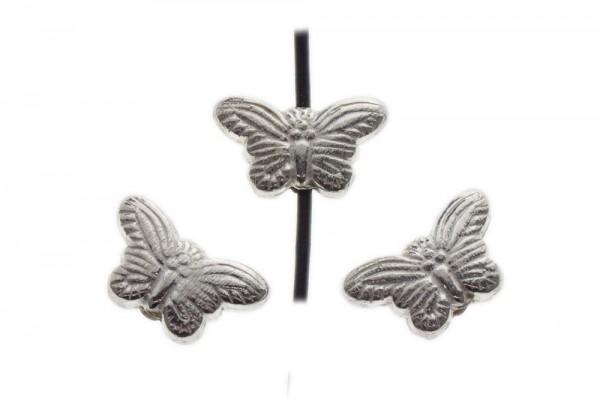 Schmetterling vertikal gebohrt 20x12mm, AG 925