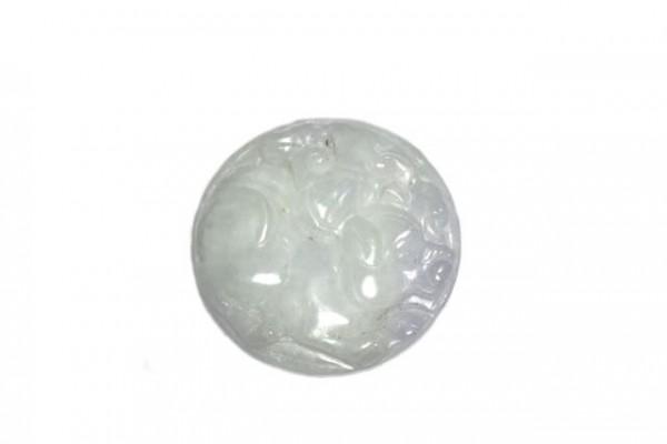 Medaillon Schwein 33mm, Burma-Jade lavendel