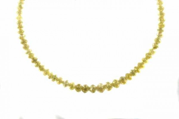 Rondellenstrang facettiert 2,7-4,9mm/42,5cm, Diamant gelb