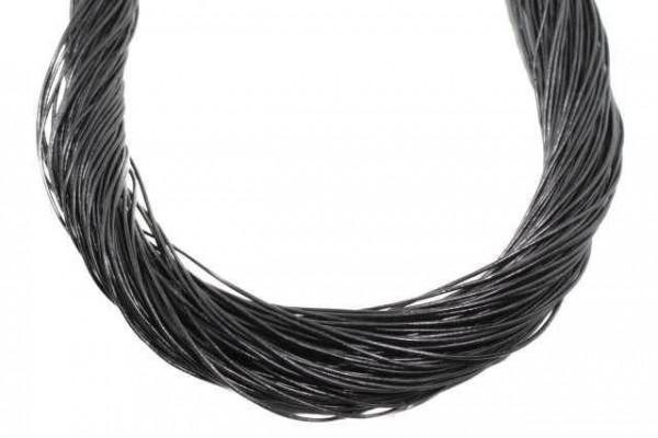 Lederband schwarz ca. 0,5mmx1m