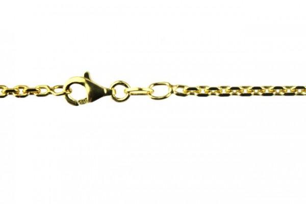 Ankerkette 8-seitig diamantiert 2,4mm/70cm, AGV 925