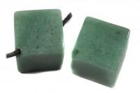 Würfel mit Bohrung, 20mm, Aventurin grün