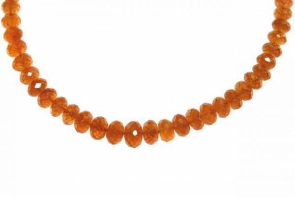 Buttonstrang fac. 3-6mm/42cm, Mandarin-Granat